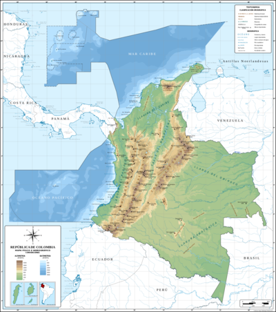 Map Colombia actual